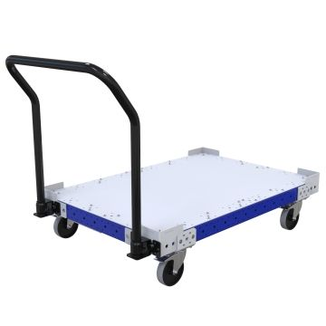 Push cart most commonly used to transport pallet and containers.
