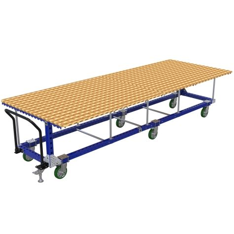 This cart is used as a mobile assembly table.