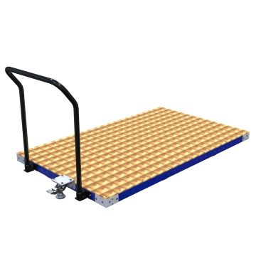 This low rider push cart can be used to transport a wide range of materials.
