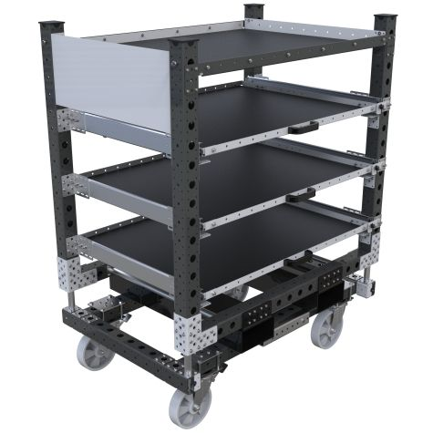 Four levels extendable shelf cart.