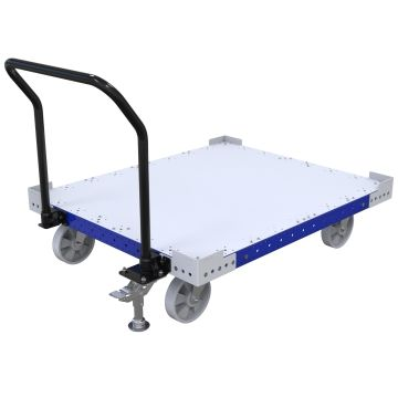 Flatbed pallet/container cart.