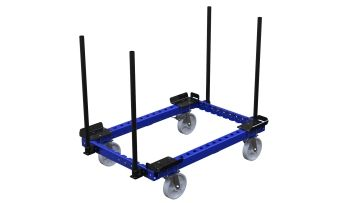 This is a standard EUR pallet trolley for lightweight applications.