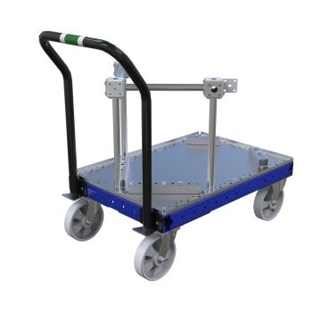 Modified flat bed container cart.