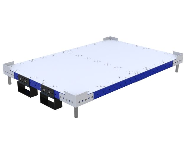 Flat deck platform with fork pockets.