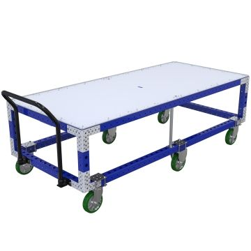 Specially designed table cart.