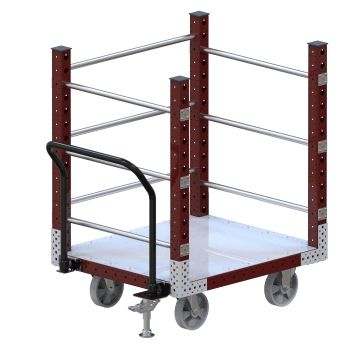 Push cart designed to move large boxes but can also be used for pallets/other containers.