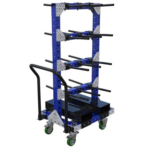 Cart specially designed for hanging components.