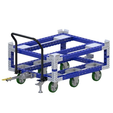 This push cart is designed to transport pallets and containers.