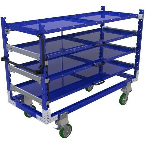 Kit Cart with Telescopic Shelves