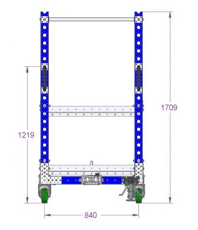 Flat Shelf Tugger Cart 70 x 36 inches – 2 Shelves