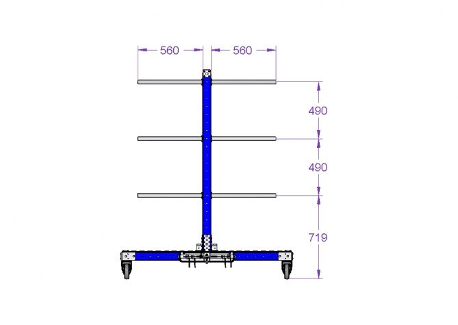 Hanging cart with tow bar 82 x 60 inch