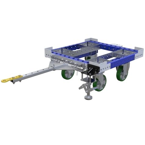 Small tugger cart for boxes