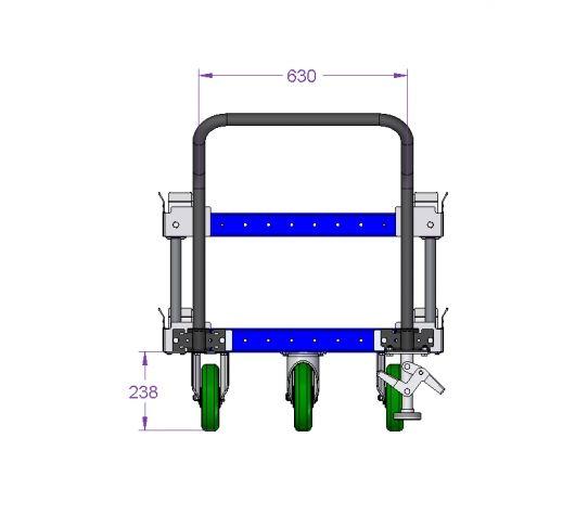 Pallet cart – 1280 x 840 mm