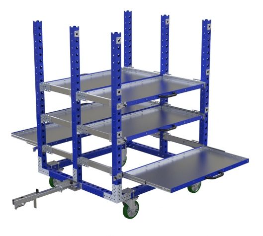 Telescopic Shelf Cart – 55 x 49 inches