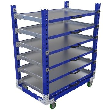 Extendable shelf cart