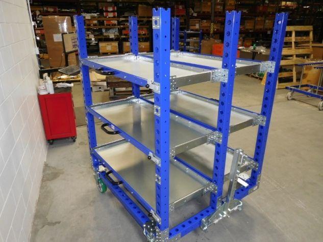 Telescopic Shelf Cart 55 x 49 inch