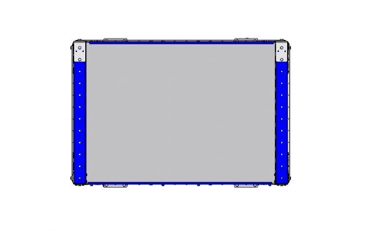 Flat Shelf Cart with Fence 1260 x 840 mm
