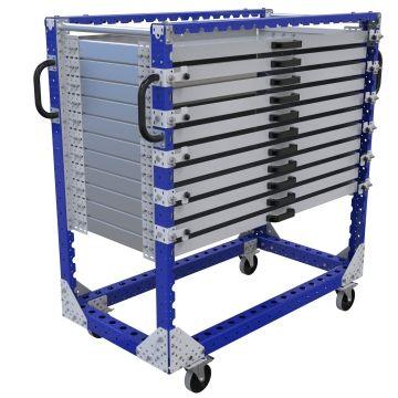 Extendable Shelf Cart - 700 x 1330 mm