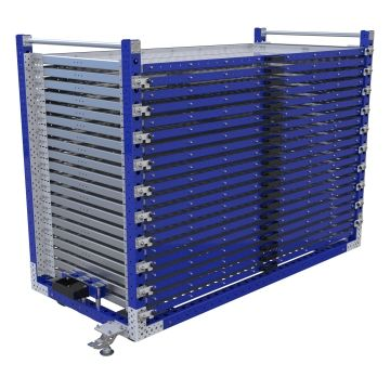 Extendable SHelf cart for thin materials.