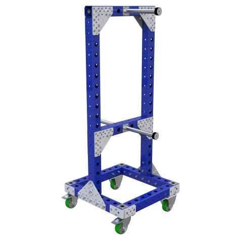 Material handling cart specially designed for hoses.
