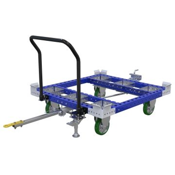 Tugger cart to transport pallets and/or containers.