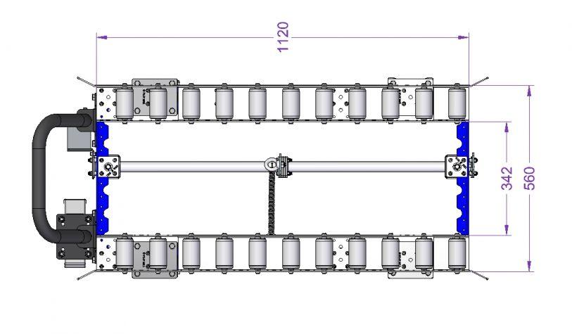 Roller Deck Cart 44 x 21.8 inch