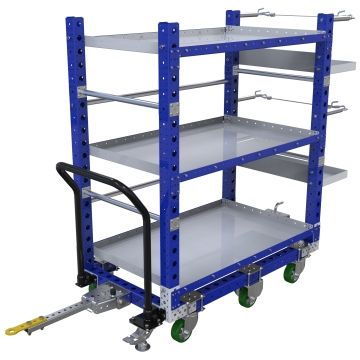 Kit cart with custom shelves