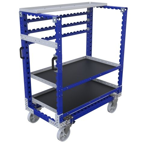 Kit cart equipped with two shelves