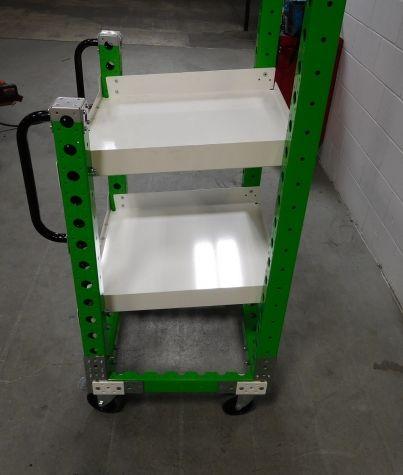 Modular & industrial material handling cart by FlexQube