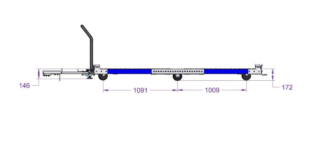 Pallet Tugger Cart - 2450 x 1750 mm
