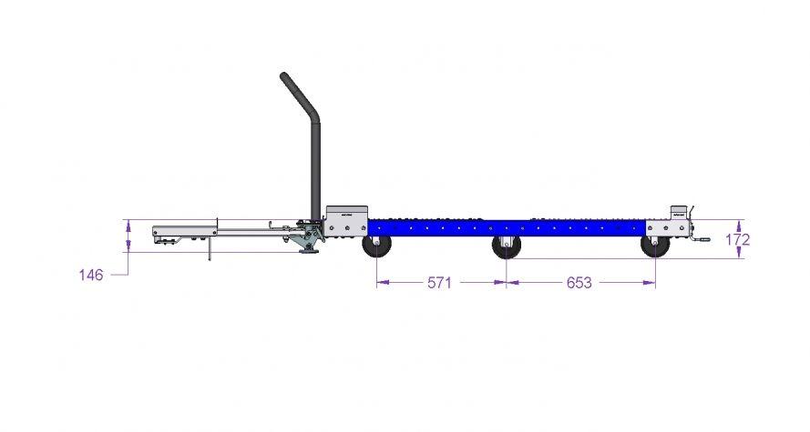 Pallet Tugger cart 1610 x 1260 mm