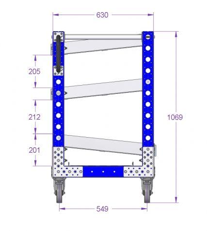 Line Side Flow Shelf Rack