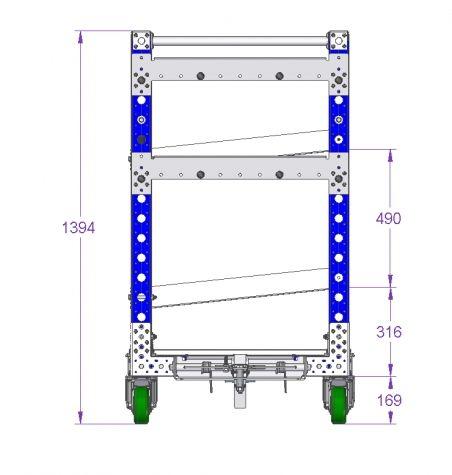 Flow Shelf Cart 1190 x 770 mm