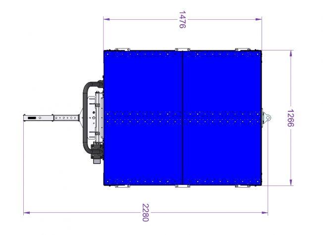 Flat Deck Engine Cart - 50 x 58 inch