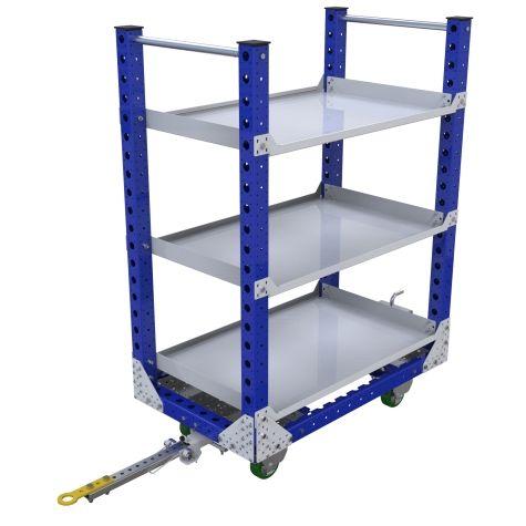 Shelf Quad Steer Cart - 700 x 1190 mm