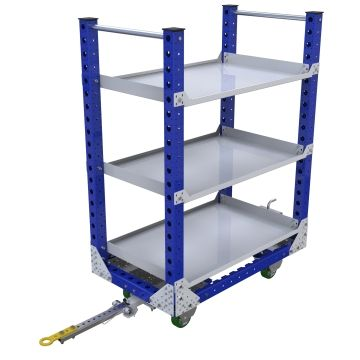 Shelf Quad Steer Cart - 700 x 1190 mm