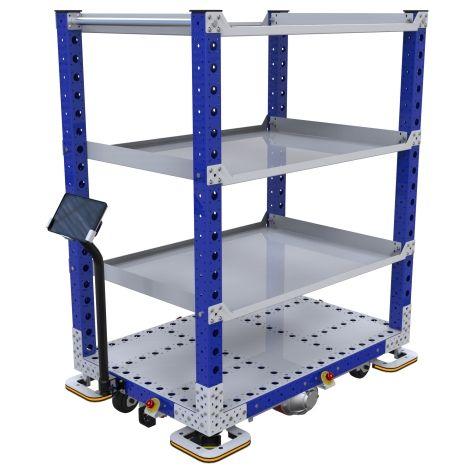 eQart Flat Shelf Cart - 840 x 1260 mm