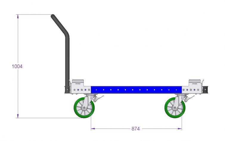 Container Cart - 1260 x 1260 mm