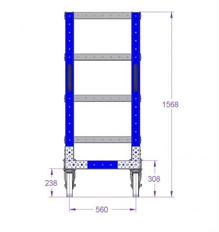 Flat Shelf Cart - 1190 x 630 mm