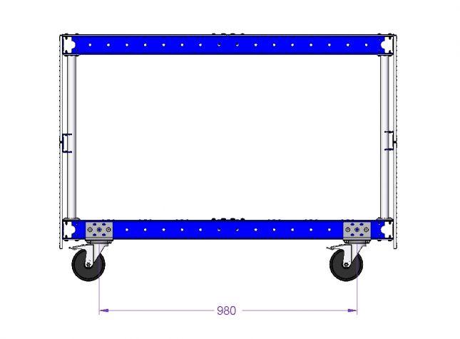 Shadow Board Cart - 1260 x 840 mm