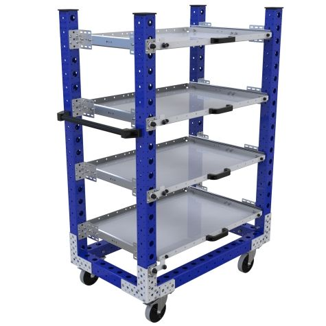 Extendable Shelf Cart – 630 x 1050 mm