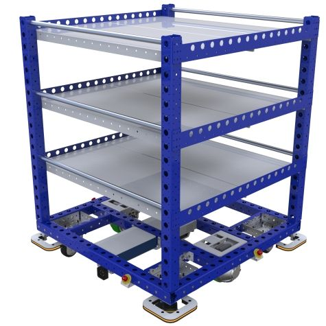 eQart - Flat Shelf Cart - 1260 x 1260 mm