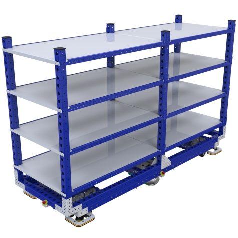 eQart Flat Shelf Cart - 910 x 2520 mm