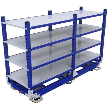 eQart Flat Shelf Cart - 910 x 2520 mm