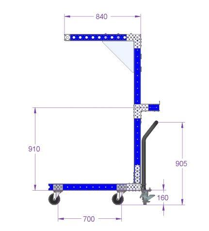 Tool Balancer Cart - 1015 x 840 mm