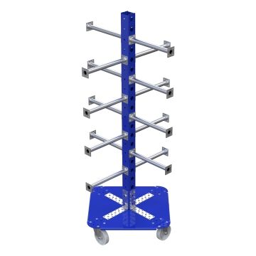 Rack with Flextubes and bottom Plate