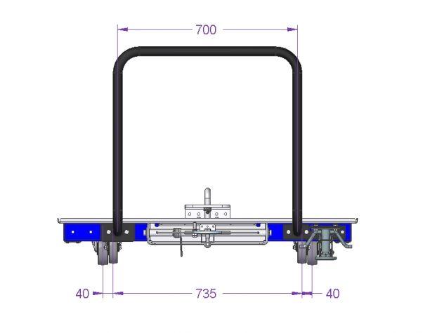 Low Rider Pallet Cart - 1244 x 1168 mm