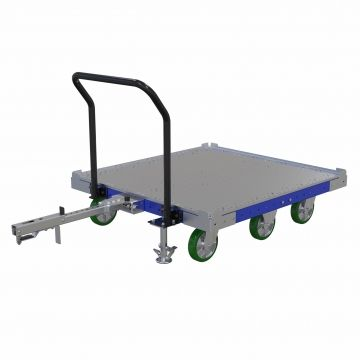 E-frame compatible Shelf Cart for Totes and Bins