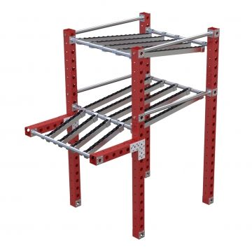 Flow Rack with Rollers