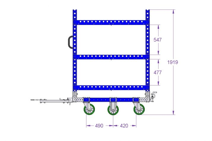 Shelf Cart 55 x 41 inch